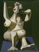 Женщина, собирающая свои волосы - Пикассо, Пабло