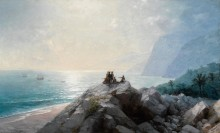 Прибытие Колумба на американский берег - Айвазовский, Иван Константинович