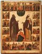 Преподобные Кирилл Белозерский и Кирилл Александрийский, 16 век, 98х75