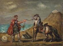 Римский легионер с лошадью на уздечке - Кирико, Джорджо де