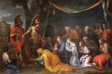 Царица Персии у ног Александра - Лебрен, Шарль