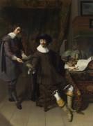Портрет Гюйгенса Константина и его работника - Кейзер, Томас де