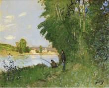 Пейзаж с двумя рыболовами - Монтезен, Пьер-Эжен