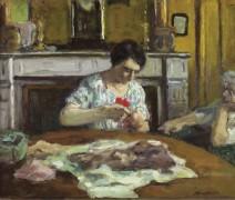 Женщина за шитьем, 1925 - Андре, Альберт