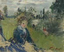 На лугу, Ветейл,  1881 - Моне, Клод