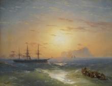 Корабль у берега Искьи - Айвазовский, Иван Константинович