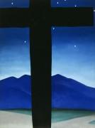 Черный крест, звезды, синева - О'Кифф, Джорджия