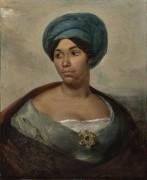 Портрет женщины в голубом тюрбане - Делакруа, Эжен