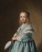 Портрет девочки в голубом - Верспронк, Ян Корнелис