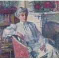 Мария ван Рейссельберге у камина (Maria van Rysselberghe by the Fire-Place), 1913 - Рейссельберге, Тео ван