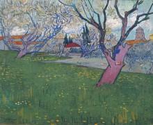 Вид на Арль с цветущими деревьями (View of Arles with Trees in Blossom), 1889 - Гог, Винсент ван