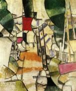 Пересечение (The level Crossing), 1912 - Леже, Фернан