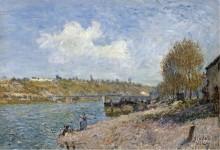 Прачки на берегу реки, 1884 - Сислей, Альфред