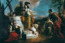 Встреча Елиезера и Ревекки у колодца - Тьеполо, Джованни Баттиста