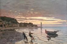 Буксирование лодки, Онфлёр - Моне, Клод