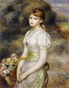 Девушка с корзиной цветов - Ренуар, Пьер Огюст