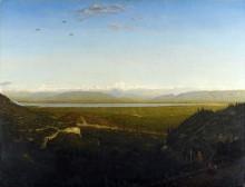 Пейзаж с видом на гору Мон-Блан - Руссо, Теодор