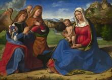 Мадонна с младенцем и  двумя ангелами - Превитали, Андреа
