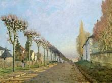 Улица Машин в Лувесьене - Сислей, Альфред