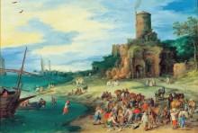 Прибрежный пейзаж с гробницей Сципиона - Брейгель, Ян (Старший)