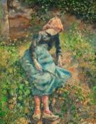Сидящая юная крестьянка - Писсарро, Камиль