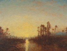 Пейзаж в Хартуме на закате дня -  Зим, Феликс