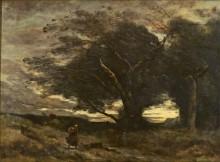 Порыв ветра - Коро, Жан-Батист Камиль