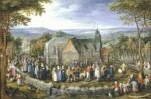 Свадьба в деревне, 1612 - Бреггель, Ян (Старший)