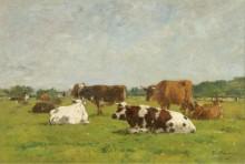 Коровы на пастбище, 1880-85 01 - Буден, Эжен