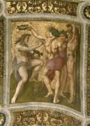 Станца делла Сеньятура: Роспись потолка (фрагмент) - Аполлон и Марсий - Рафаэль, Санти