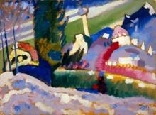 Зимний пейзаж с церковью - Кандинский, Василий Васильевич
