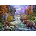 Медведи на горном ручье - Красный, Ян Патрик (20 век)