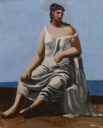 Женщина у моря - Пикассо, Пабло