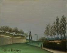 Вид местности влево от Ванвских ворот - Руссо, Анри