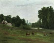 Пейзаж в Виль-д'Авре - Коро, Жан-Батист Камиль