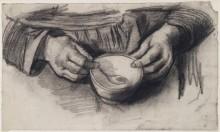 Колени с руками и миской (Lap with Hands and a Bowl, 1884-85 - Гог, Винсент ван