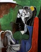 Женщина с собакой - Пикассо, Пабло