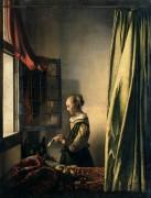 Девушка, читающая письмо у открытого окна - Вермеер, Ян