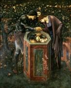 Зловещие головы (Персей показывает голову Медузы Андромеде в отражении источника) - Бёрн-Джонс, Эдвард