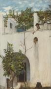 Женщина на балконе, Капри - Уотерхаус, Джон Уильям