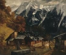 Альпийский пейзаж - Курбе, Гюстав