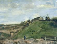 Холм Монмартр с каменоломня и ветряной мельницей (The Hill of Montmartre with Stone Quarry and Windmills), 1886 - Гог, Винсент ван