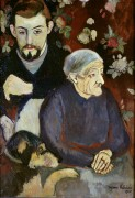Морис Утрилло со своими бабушкой и собакой - Валадон, Сюзанна