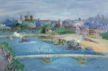 Сена и мост Каррузель, Париж - Дюфи, Жан