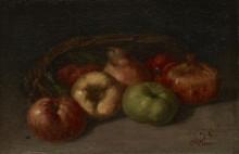 Натюрморт с яблоками, грушами и гранатом - Курбе, Гюстав