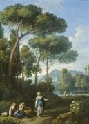 Пейзаж с фигурами в Римской Кампании - Блумен, Ян Франс ван