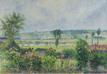Долина Сены близ Дама, сад Октава Мирбо, 1892 - Писсарро, Камиль