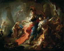У ног Минервы, 1750 - Маульберч, Франц Антон