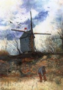 Мулен де ла Галетт. Мельницы Монмартра (Le Moulin de la Galette), 1886 - Гог, Винсент ван