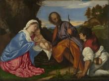 Святое семейство с пастухом - Тициан, Вечеллио